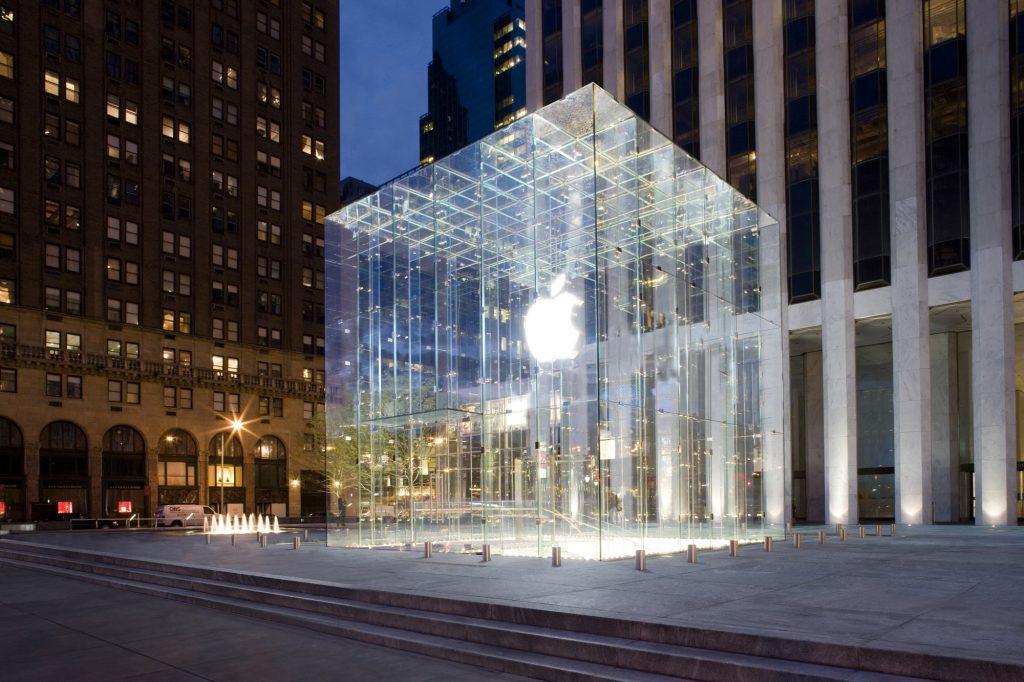 미국 뉴욕 맨하탄에 있는 애플 스토어