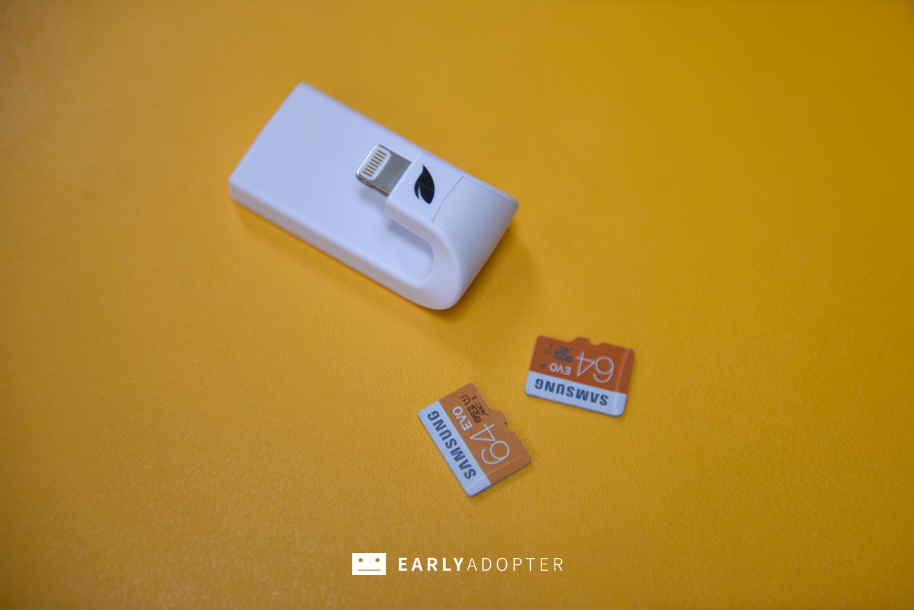 leef iaccess iphone lightning micro sd reader review (9)