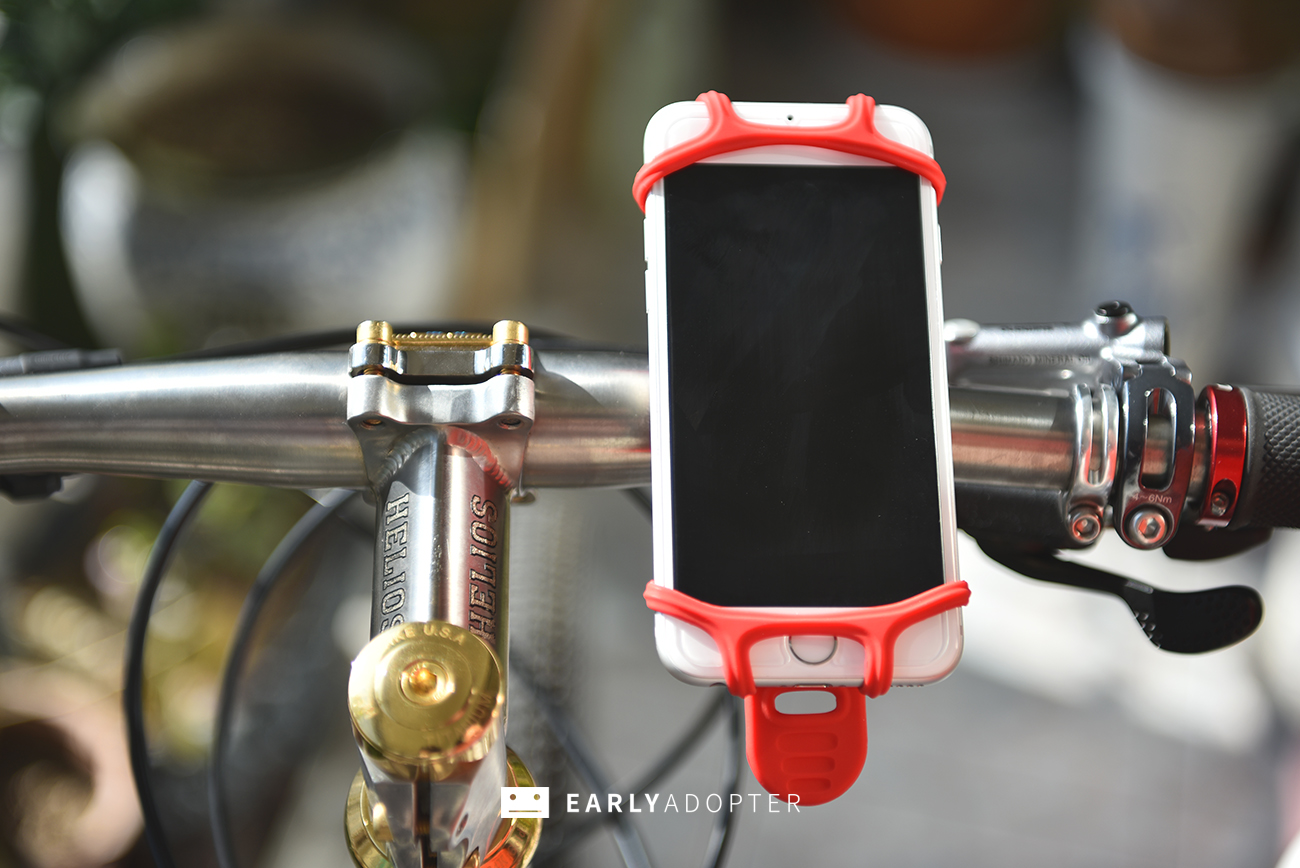 bike tie smartphone mount for bicycle (1)