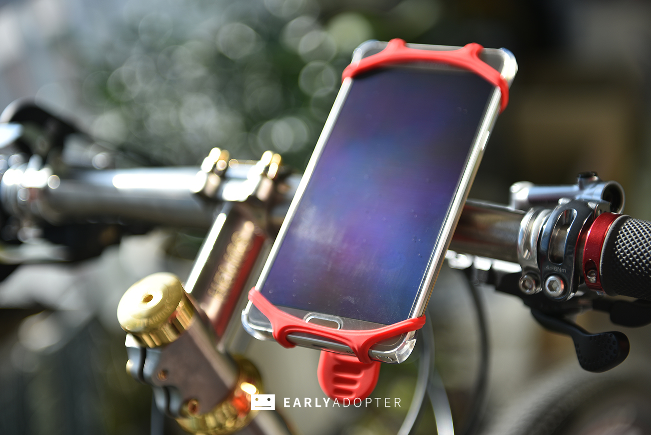 bike tie smartphone mount for bicycle (7)