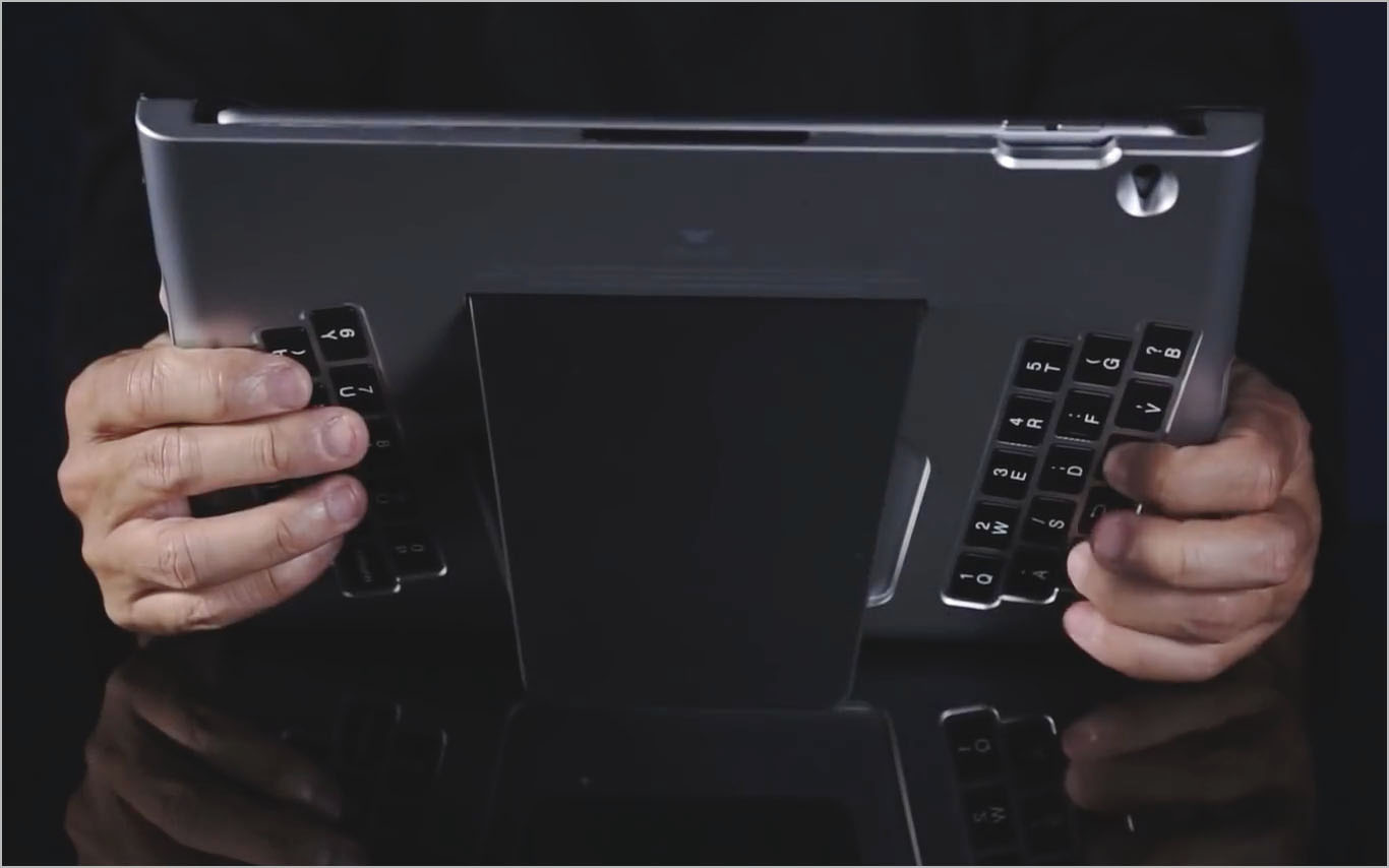 t-blade world's first back typing bluetooth keyboard for ipad (2)