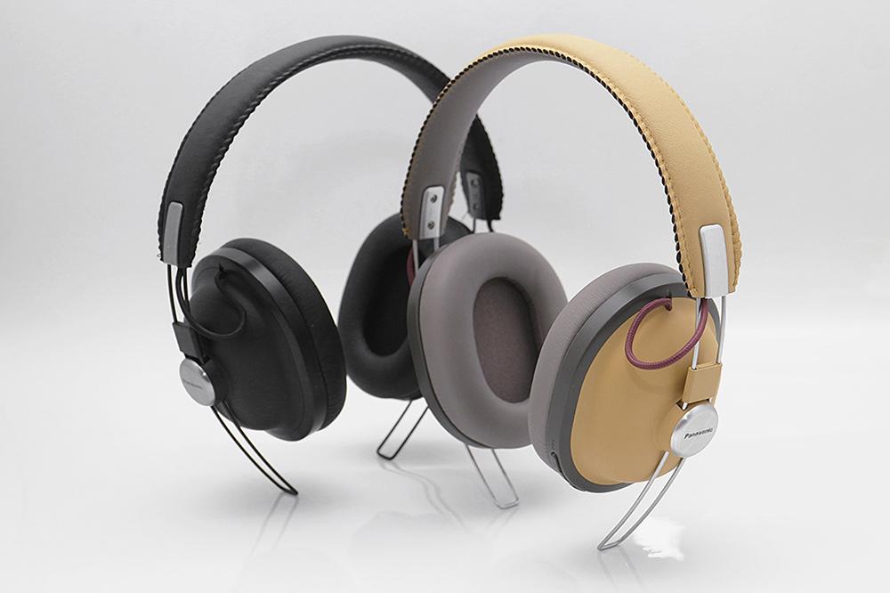 레트로한 디자인의 파나소닉 블루투스 헤드폰